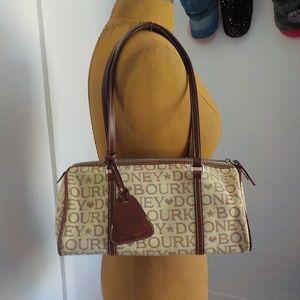 Dooney & Bourke Cream/Brown Signature Shoulder Bag